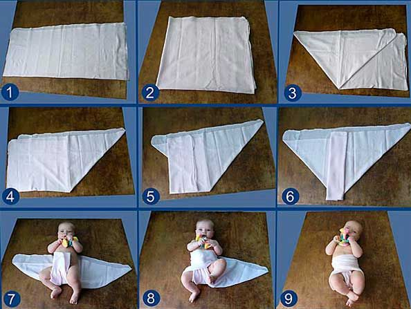 Как сшить подгузники для новорожденных своими руками