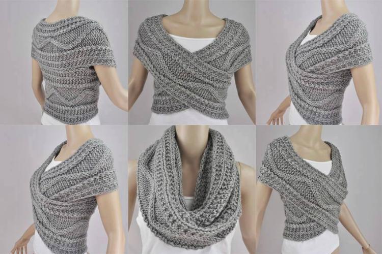 Як зв'язати шарф - трансформер: 2 способи зі схемами