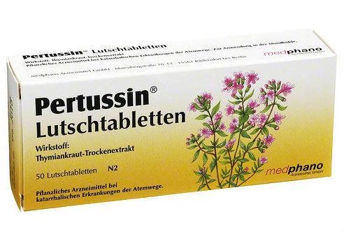 Пертусин в таблетках містить тільки екстракт чебрецю