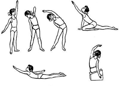 При правостороннем грудопоперекового сколіозі використовується комплекс спеціальних вправ