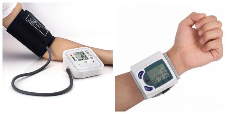 Автоматичний тонометр в залежності від моделі вимірює артеріальний тиск на плечі або зап'ясті